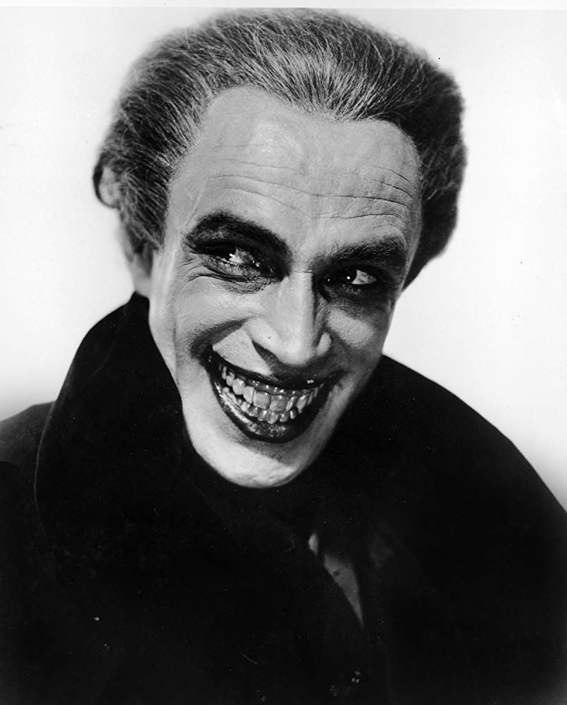 Conrad Veidt as the lead role of Gwynplaine in The Man Who Laughs, 1928.