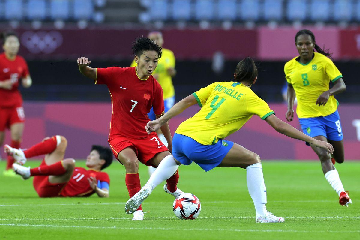 China v Brazil: Women's Football - Olympics: Day -2