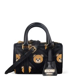 Moschino printed quilted nylon small handbag, $595