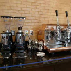 The coffee and espresso bar will be open all day.
