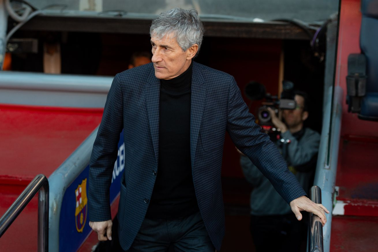 Quique Setien shares his admiration for Busquets