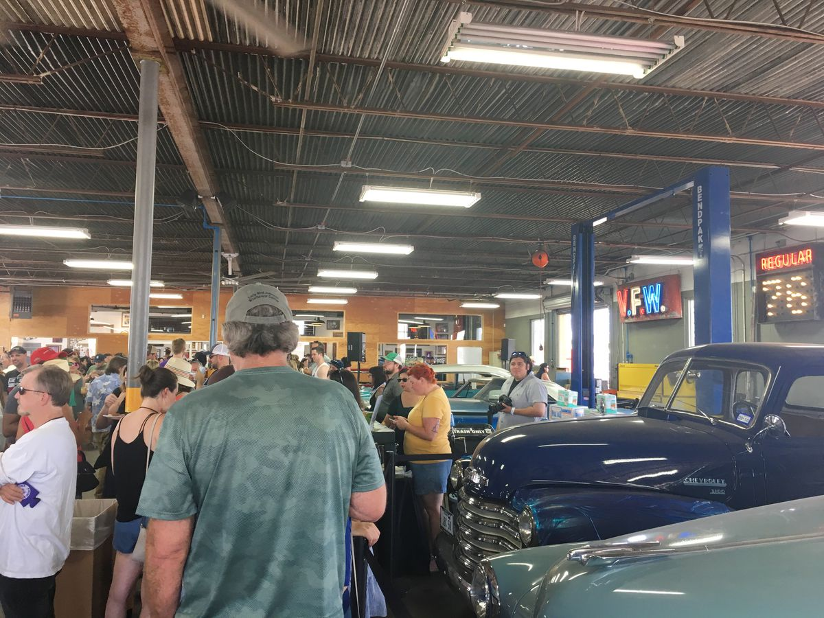 Inside the Austin Speed Shop during Coupe de Grille