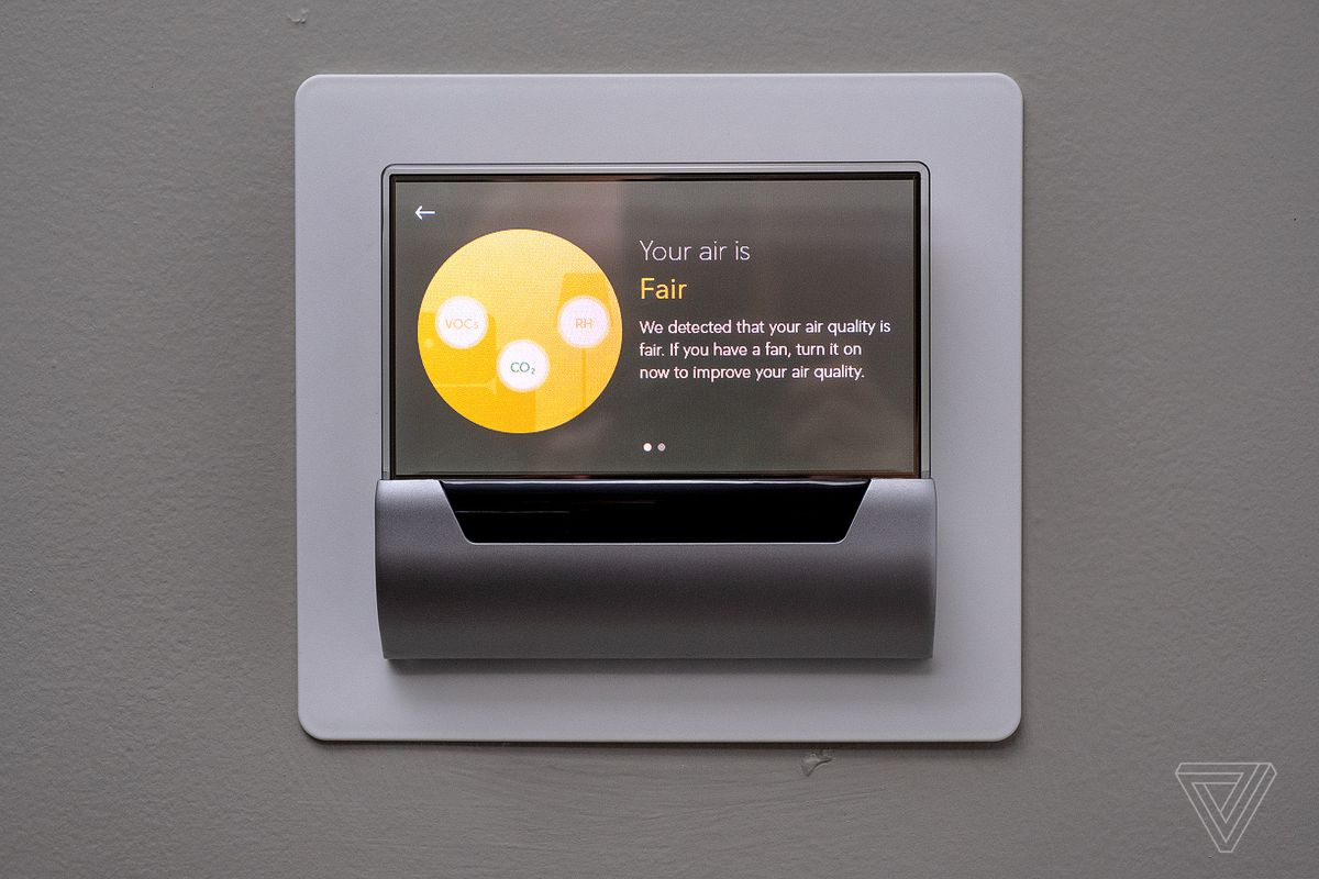 Glas Smart Thermostat Review Not As It Looks The Verge Wiring Why Is My Nest Working With A C Home Last Unique Part Of Its Built In Cortana Integration Has This Because Software On Windows 10 Iot Core So Actually