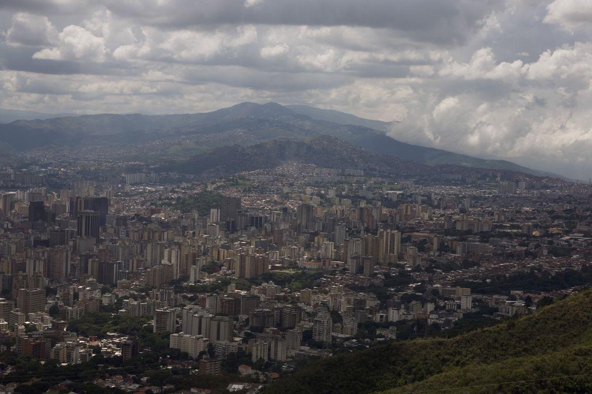 The South American City of Caracas, Venezuela