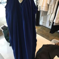 Otte solid silk cami dress in cobalt, $49 (from $288)