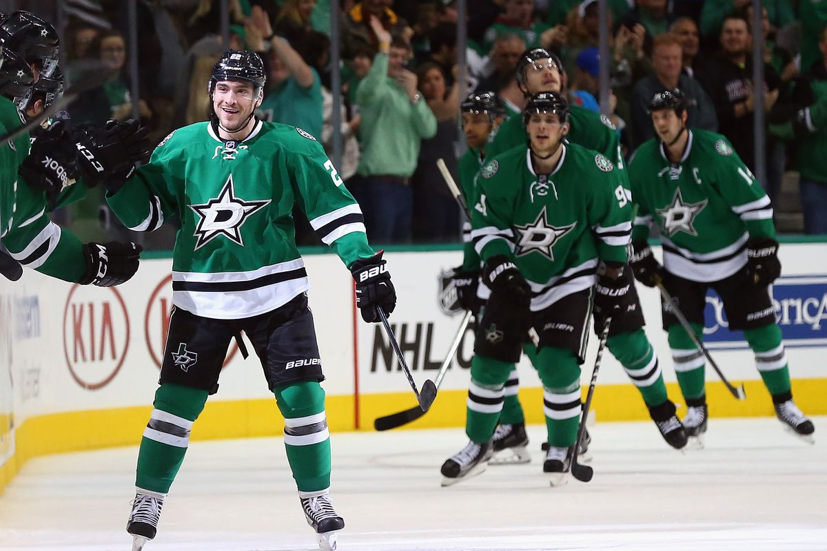 Colton Sceviour knows how to score goals, and Jamie Oleksiak is taller than Tyler Seguin.