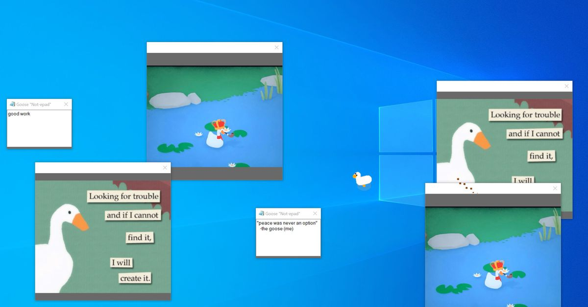 This Untitled Goose Game app turns your Windows PC into pure mayhem