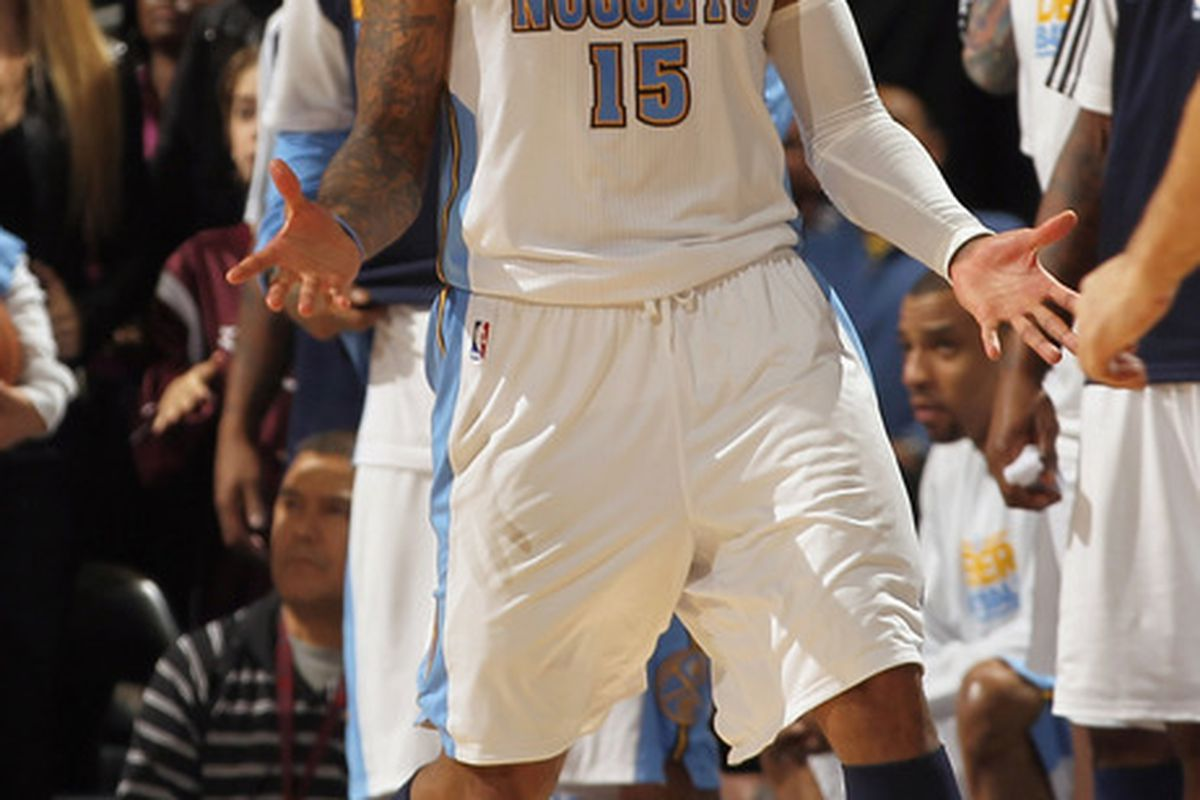 You think you're unhappy now, Melo. What happens when the Nuggets franchise-tag you?