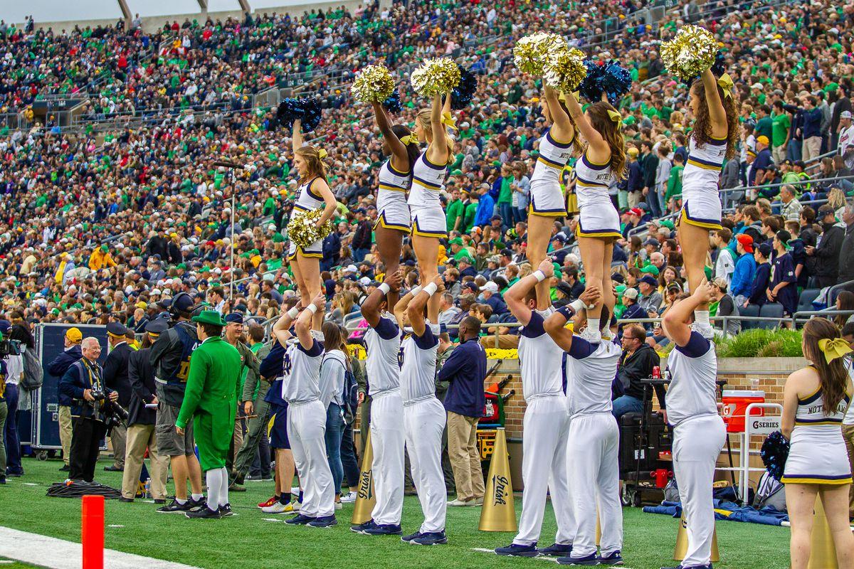 notre dame football cheerleaders