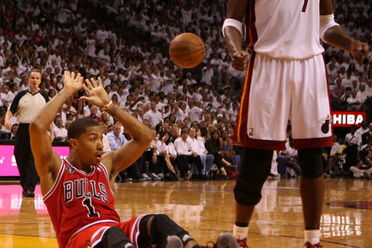 Credit to Rose's acting skills if he can still seem genuinely surprised at another foul call against the Bulls.