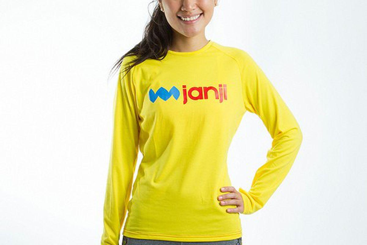 """Janji Women's Logo Long-Sleeve, <a href=""""http://runjanji.com/all-long-sleeves/womens-logo-long-sleeve"""">$40</a>"""