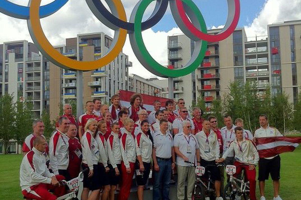 Latvian Olympic Team, and their BMX bikes.