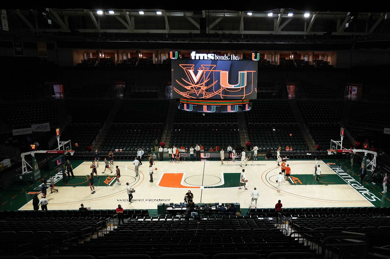 NCAA Basketball: Virginia at Miami-Florida