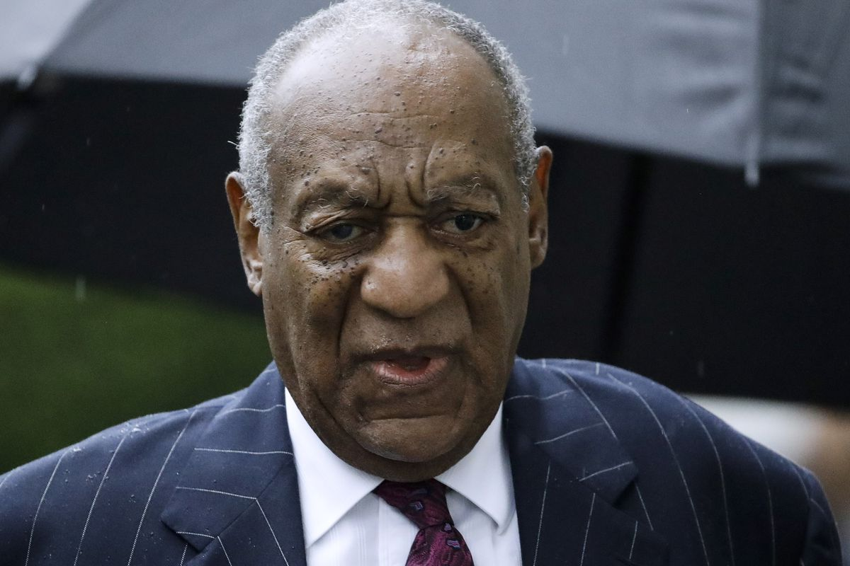 FILE - In this Sept. 25, 2018, file photo, Bill Cosby arrives for a sentencing hearing following his sexual assault conviction at the Montgomery County Courthouse in Norristown Pa. Court filings on Friday, April 5, 2019, showed that Cosby has agreed to se