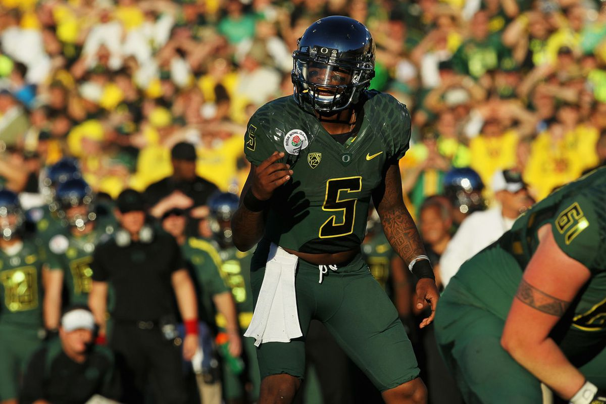 Darron Thomas led the Ducks to their first Rose Bowl victory in 95 years. He's foregoing his senior season to move on to the NFL.