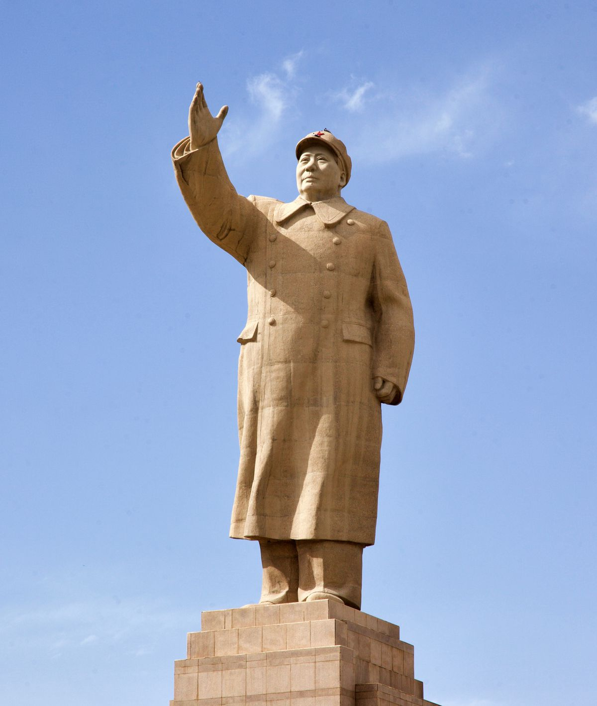 A statue of Mao Zedong in the Central Square of Kashgar, China.