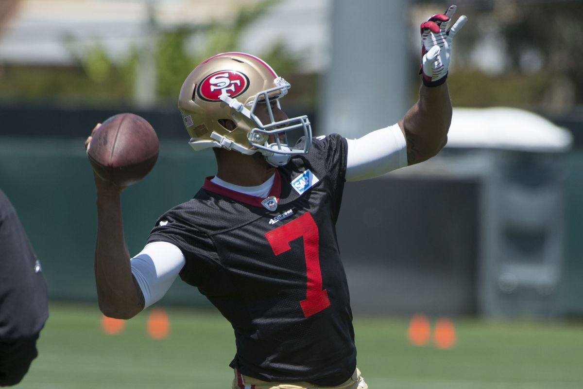 best service af3ab 98be2 Why Colin Kaepernick is wearing a black jersey in practice ...