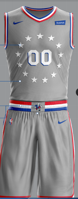 new concept bf4e1 a5e45 The Sixers' Alternate Uniforms are Beautiful (Despite ...