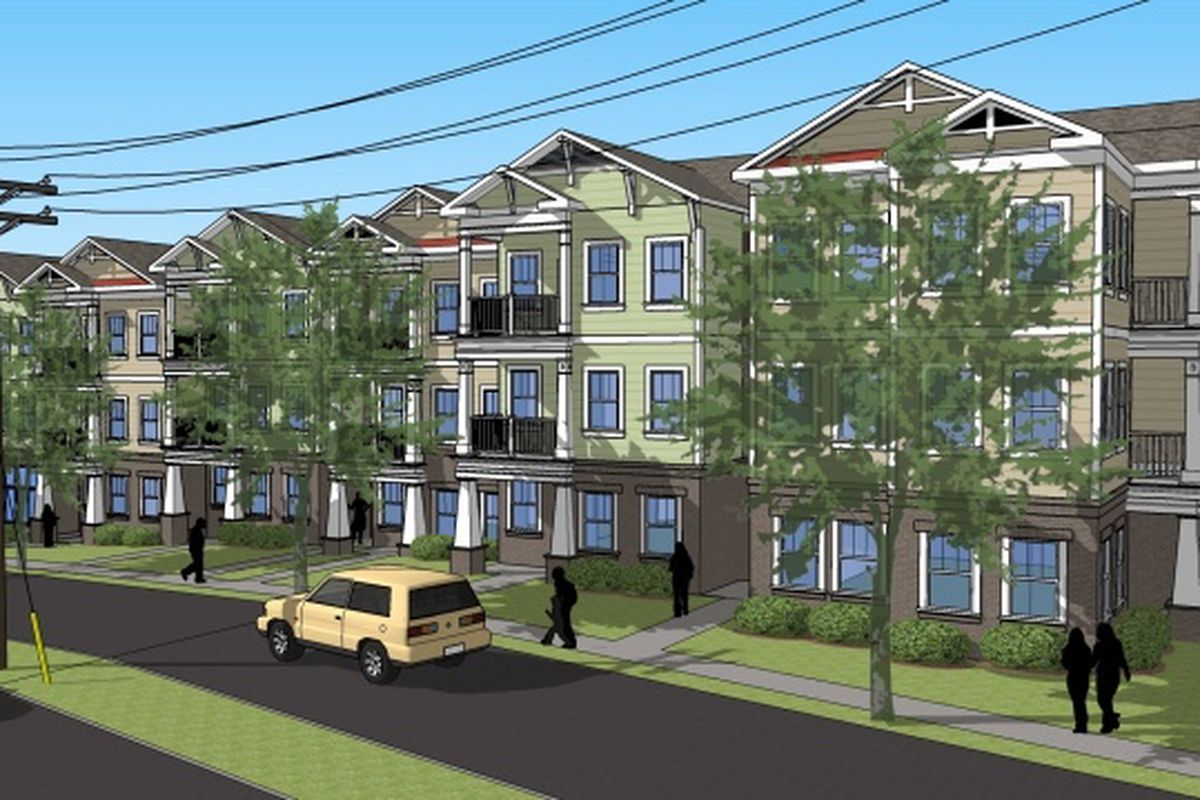 A rendering shows the fresh face planned for a prominent corner in Oakhurst.