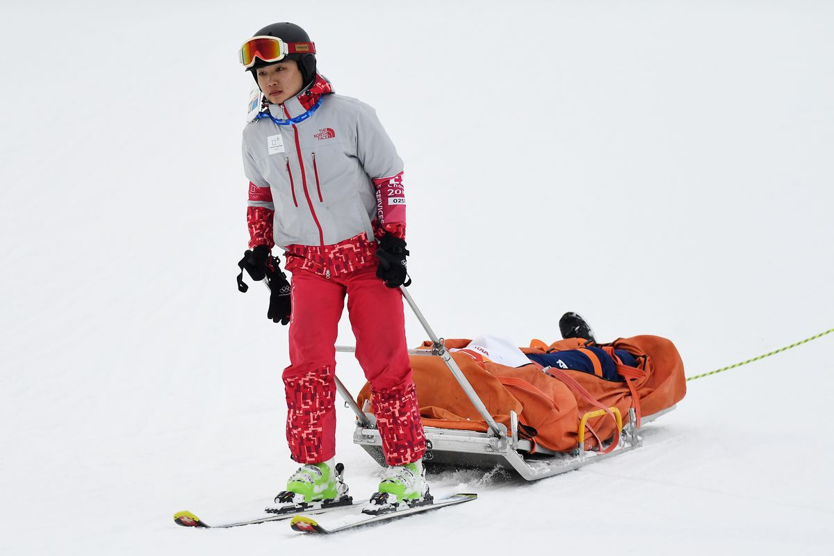 Japanese Snowboarder Stretchered Out Of Olympic Halfpipe After Nasty Fall