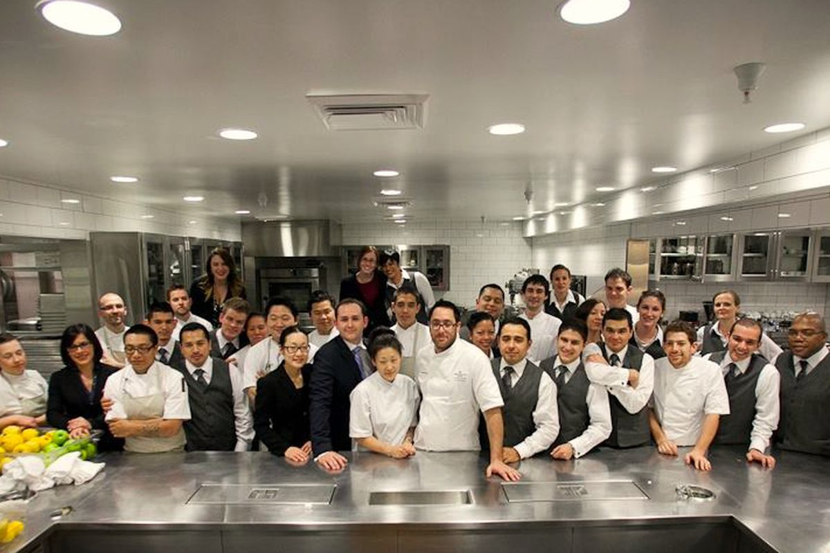The staff at The Restaurant at Meadowood, Napa Valley