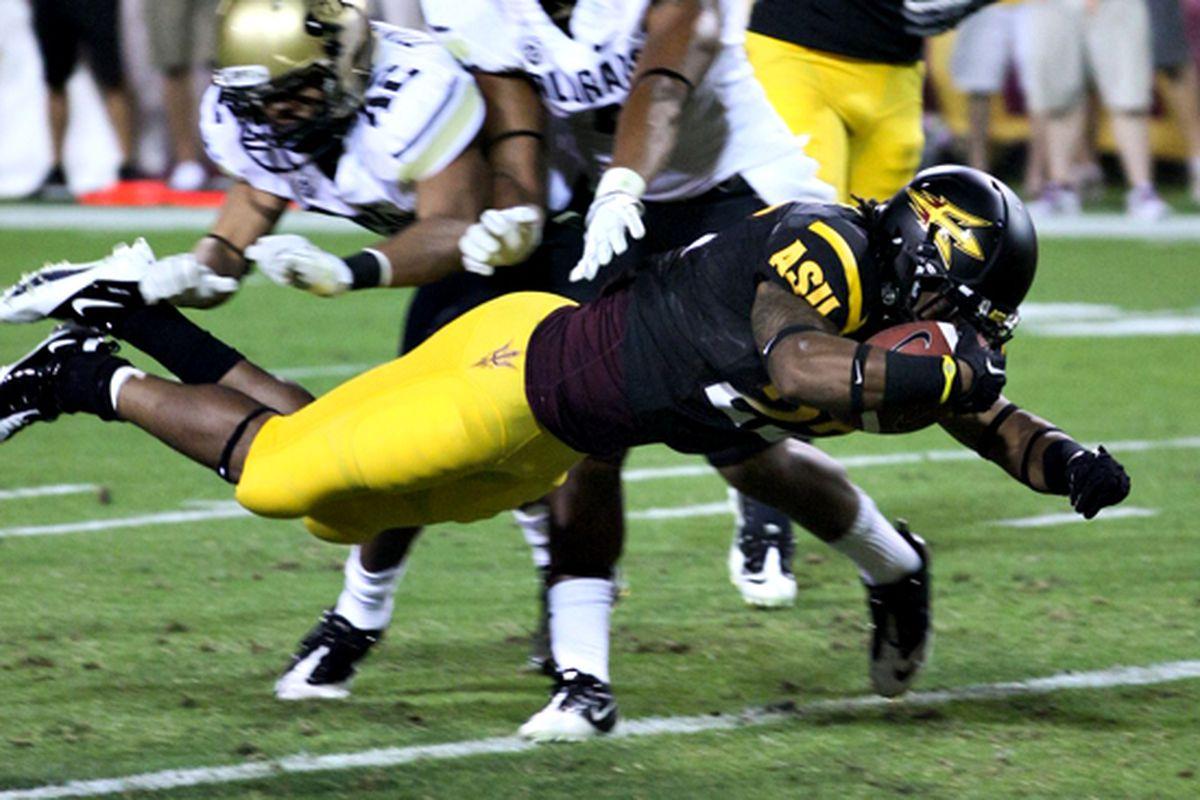 James Morrison scores his first career touchdown against Colorado (Photo: ASU)