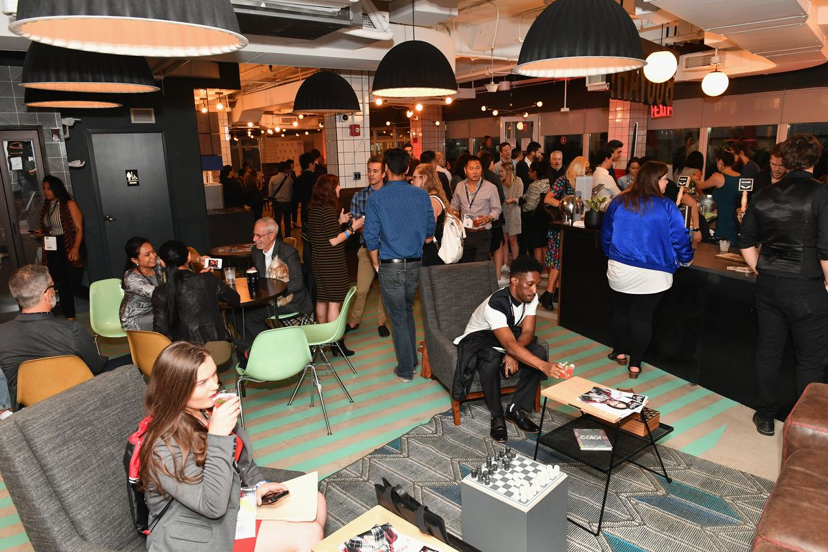 Guests attend Time Out Connects at WeWork.