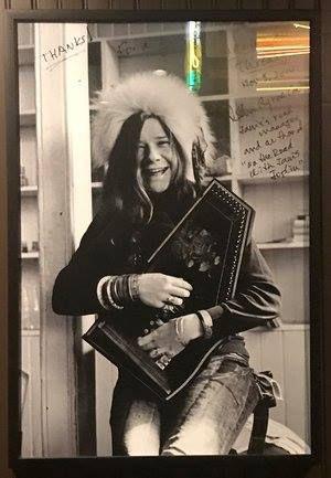 Janis Joplin poster at Threadgill's auction