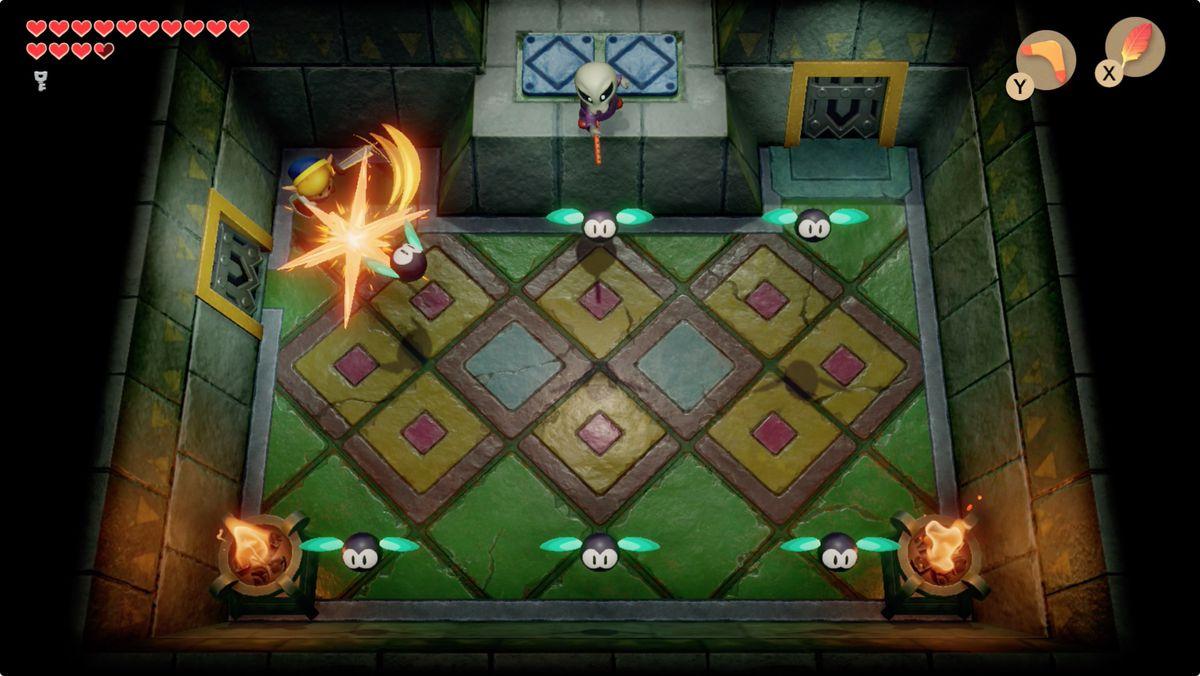 Link's Awakening Eagle's TowerGrim Creeper mini-boss fight