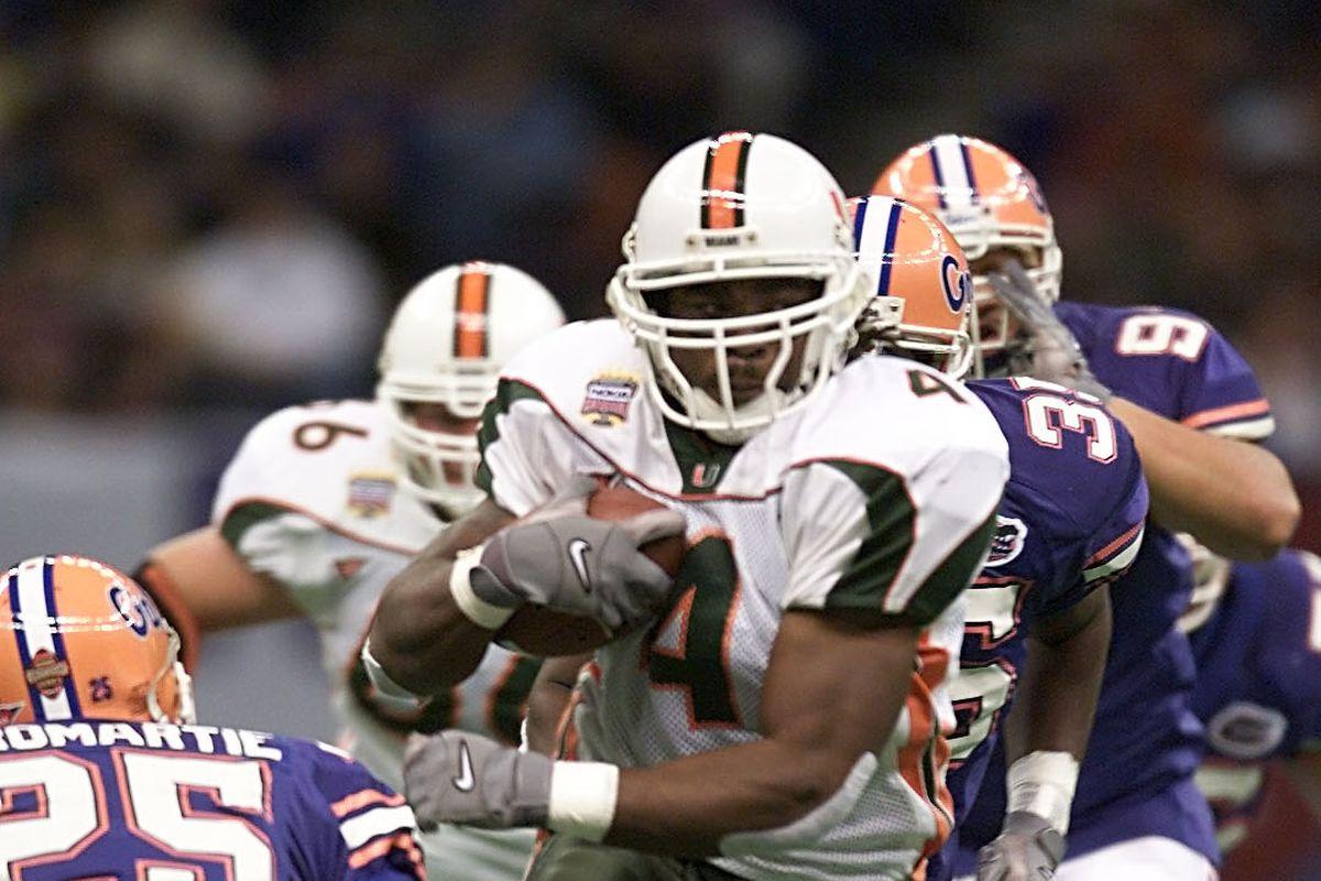 100 Greatest Plays In Miami History: #68-Najeh Davenport/Sebastian The Ibis Touchdown Against Florida 2001 Su…