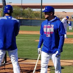 Kyle Schwarber and Addison Russell