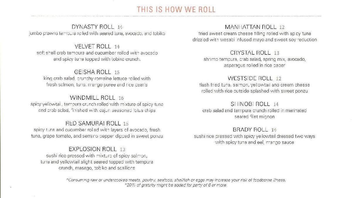Eight Sushi Lounge menu 2