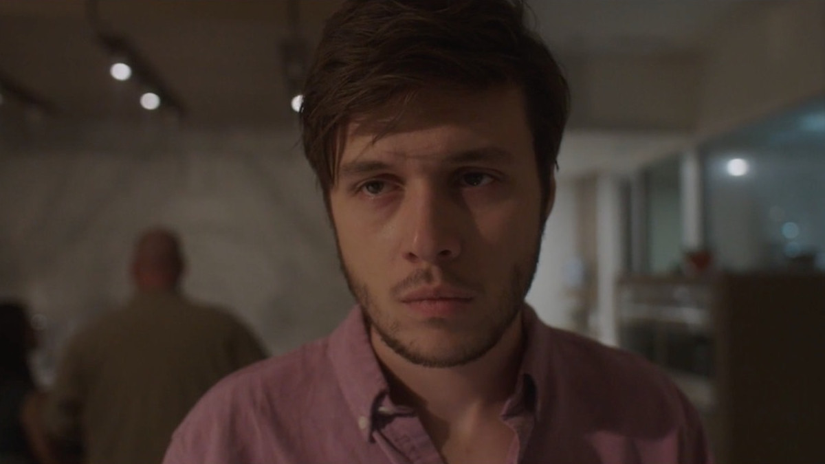 "Nick Robinson as Ross W. Ulbricht in ""Silk Road."""
