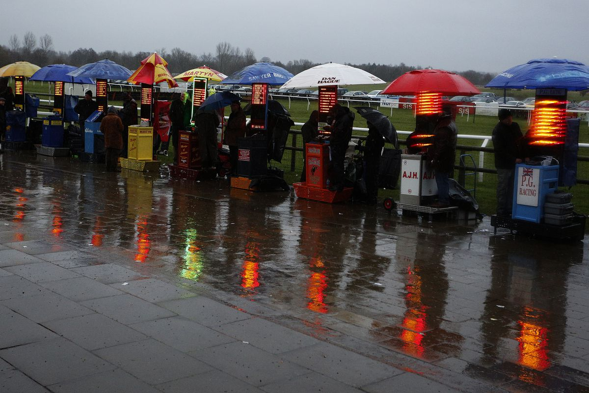 Bookies & Rain. Very relevant for this article, ahead of a trip to Wales...