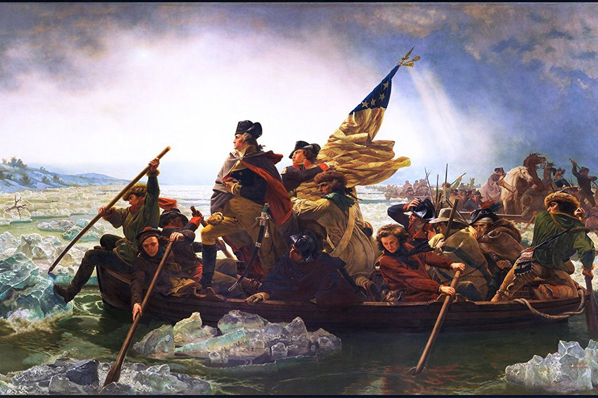 """An image of the painting """"George Washington Crossing the Delaware"""""""