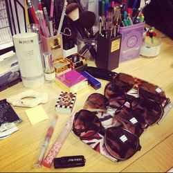 A girl likes options. This begins to explain the collection of sunnies on my desk.