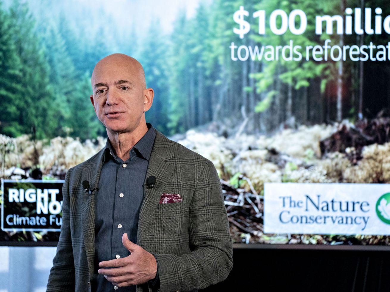 Amazon CEO Jeff Bezos Speaks At The National Press Club.