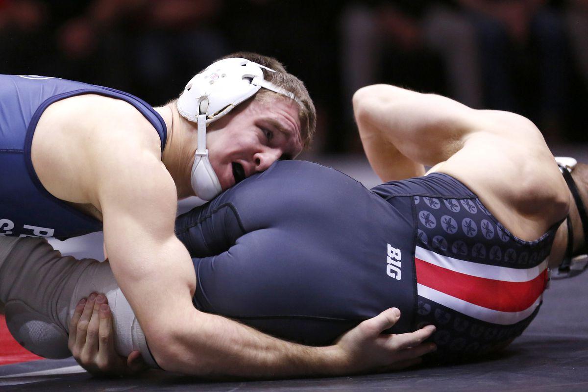 wrestling preview no 1 penn state at no 7 michigan black shoe