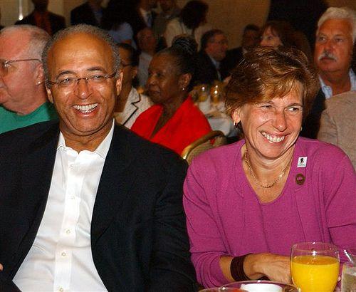 Comptroller William Thompson Jr. with Randi Weingarten (via Flickr)