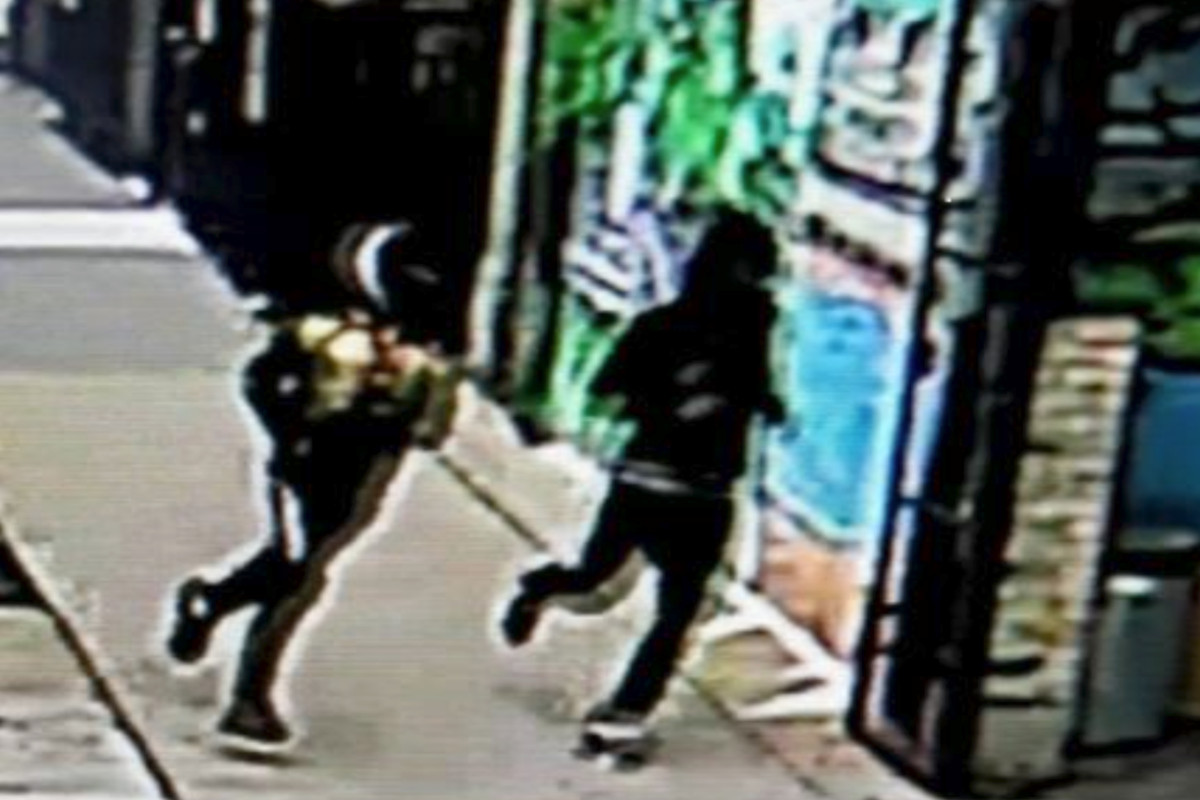 Authorities released an image of two suspects who allegedly robbed a postal worker March 31, 2020, in the 1900 block of North Albany Avenue in Logan Square.