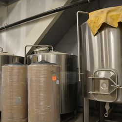 Mash and other brewing equipment.
