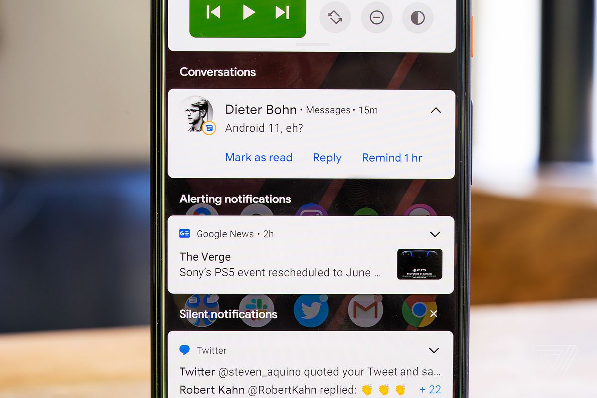 Android 11 beta features: conversations, notifications, and making sense of  complexity - The Verge