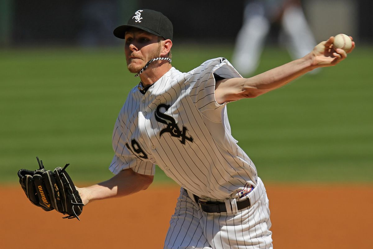 CHICAGO, IL - JUNE 09: Starting pitcher Chris Sale #49 of the Chicago White Sox delivers the ball against the Houston Astros at U.S. Cellular Field on June 9, 2012 in Chicago, Illinois. (Photo by Jonathan Daniel/Getty Images)