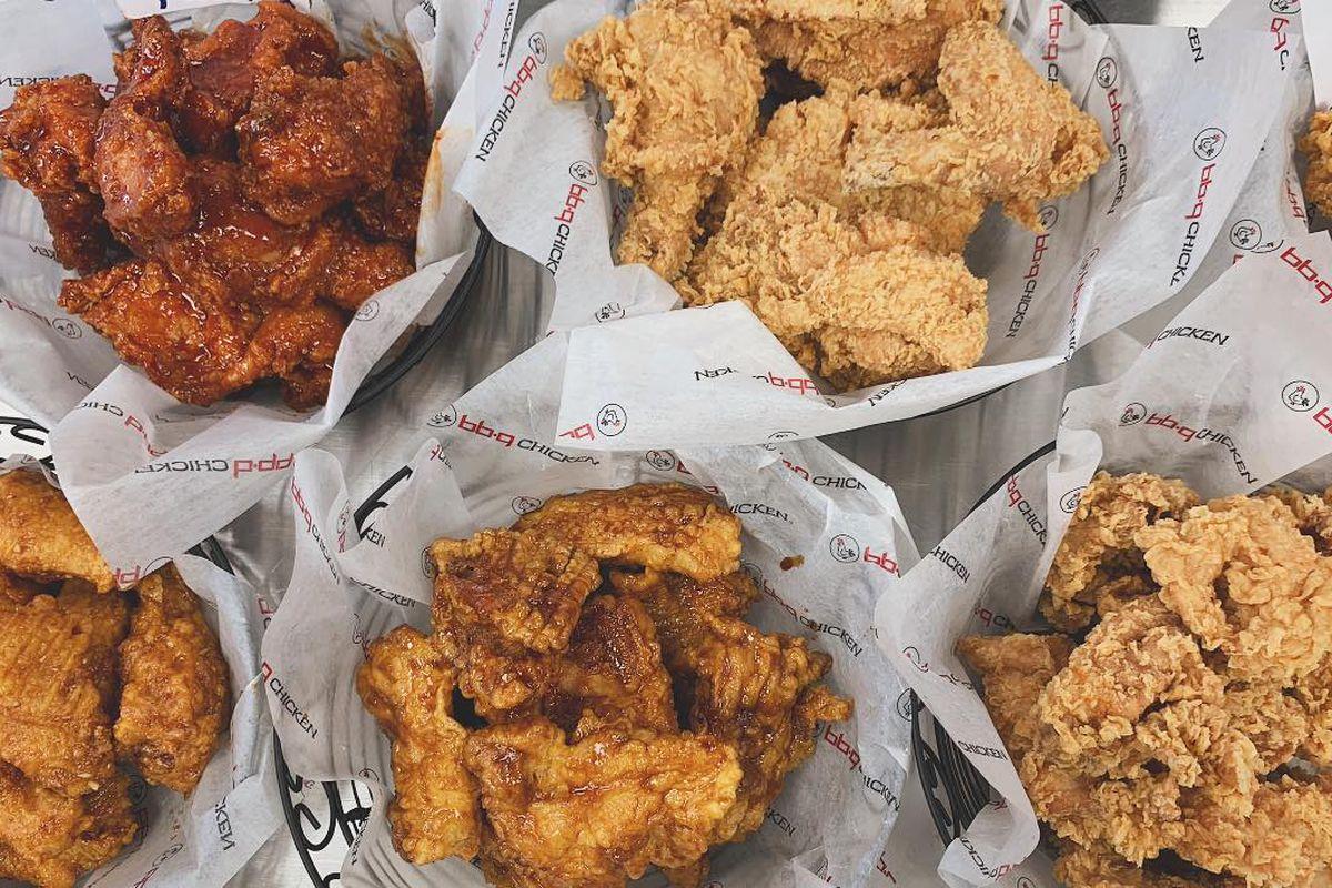 Baskets of chicken wings