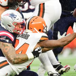 October 2019: After a bye, the Browns were ready to play on a rainy day in New England. Or were they? The Browns committed turnovers on three consecutive plays (spread over three possessions), paving the way for New England to jump out to a 17-0 lead. The Patriots weren't even on their A-game, which allowed Cleveland to close the gap to 17-10, before losing 27-13 and falling to 2-5 on the year.
