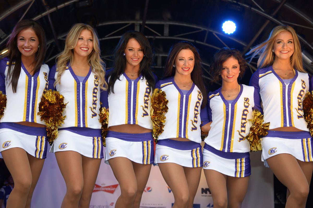 Cheerleaders? Yep, cheerleaders.