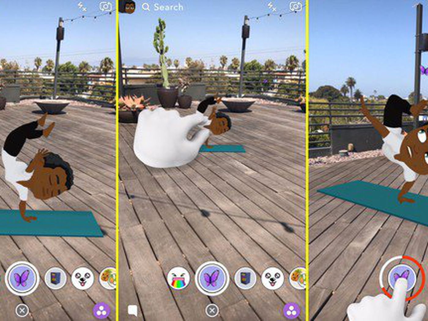 Snapchat's Bitmoji avatars are now three-dimensional and