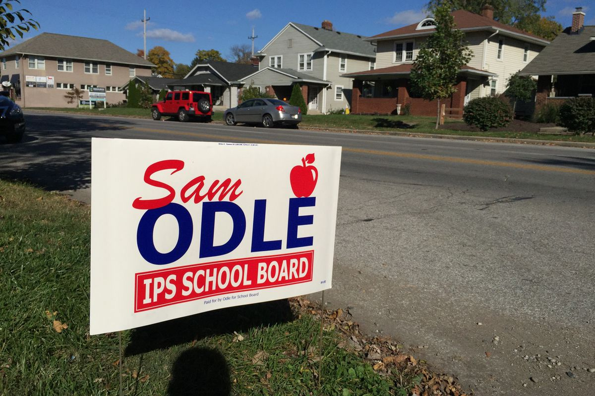 Campaign sign for the 2016 school board election.