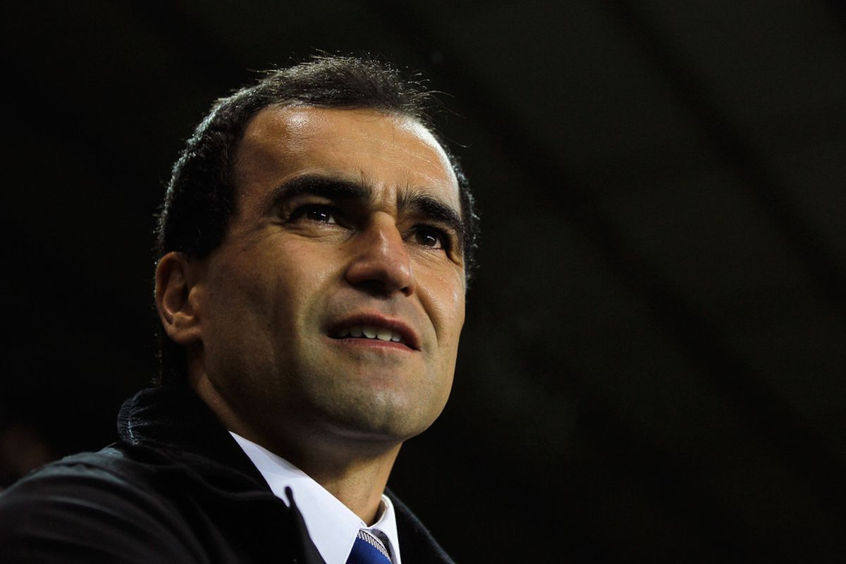 Manager Roberto Martinez of Wigan looks on during the Barclays Premier League match between Tottenham Hotspur and Wigan Athletic.