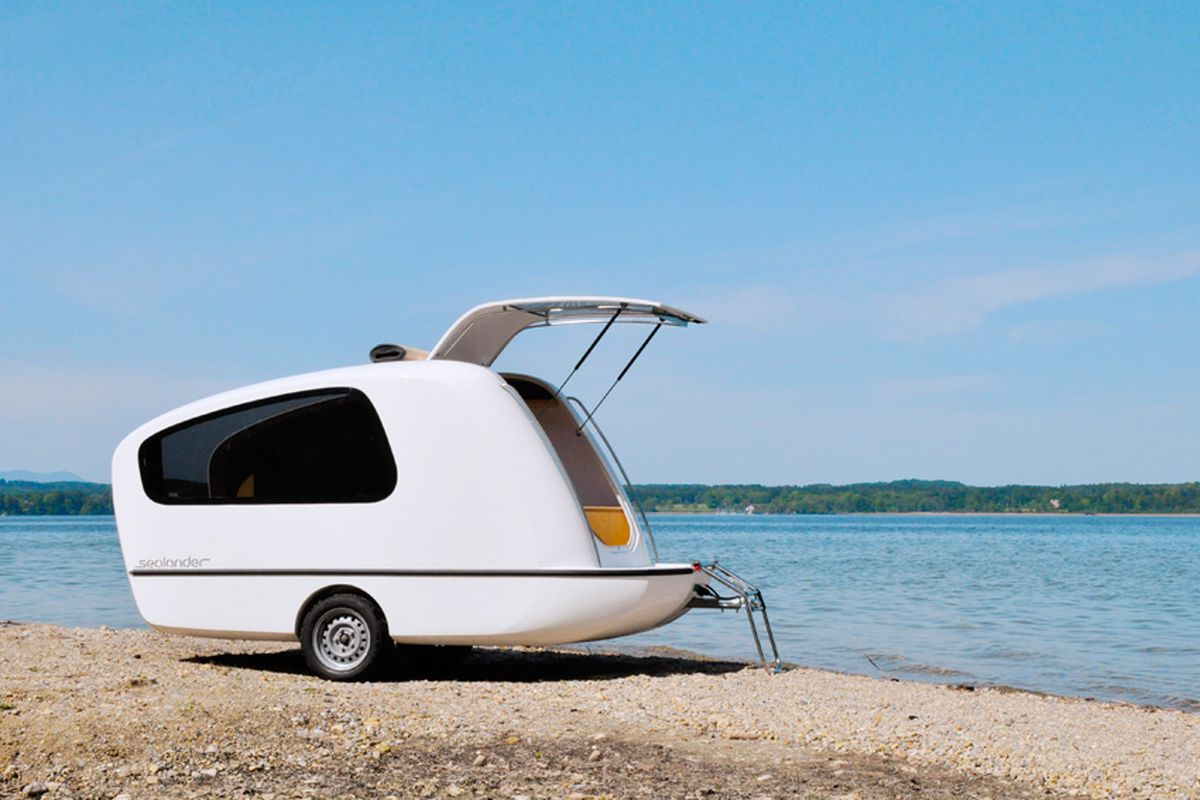 unusual tiny rvs. All photos courtesy of Sealander Tiny Camper Transforms Into Mini Boat for Just  17K Curbed